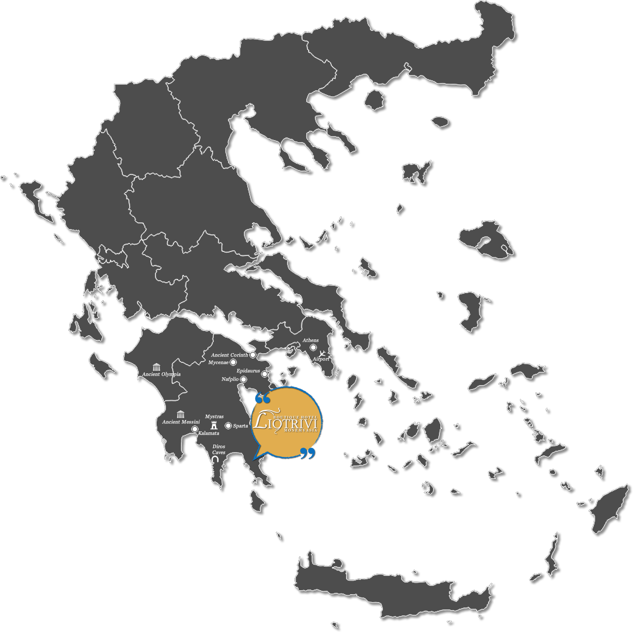 Liotrivi Boutique Hotel Monemvasia (Greece - Peloponnese Map)